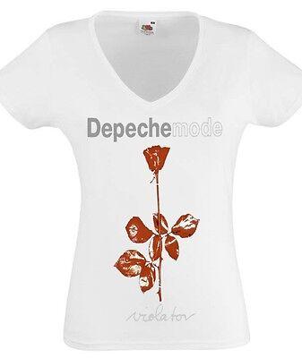 DEPECHE MODE GLOBAL SPIRIT TOUR T Lady T-shirt Woman V-neck Rock Band Tee Shirt