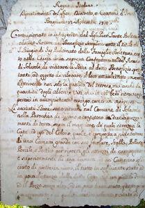 1810-SOLAROLO-BEL-DOCUMENTO-MANOSCRITTO-SOPPRESSA-CONFRATERNITA-DEL-ROSARIO