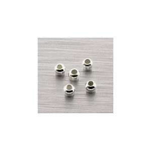 (5 Pack) Solid Sterling Silver (.925) 3mm Round Spacer Beads