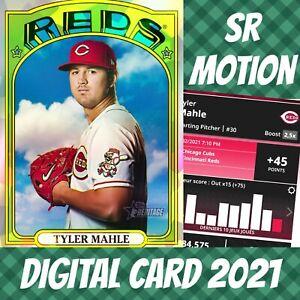 Topps Bunt 21 Tyler Mahle Heritage Refractor 2021 Digital