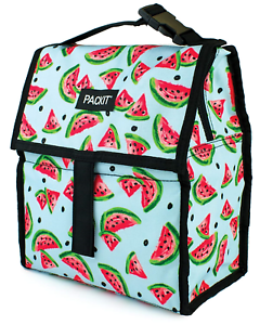 PackIt Freezable Foldable Lunch Bag with Zip Top Closure ...