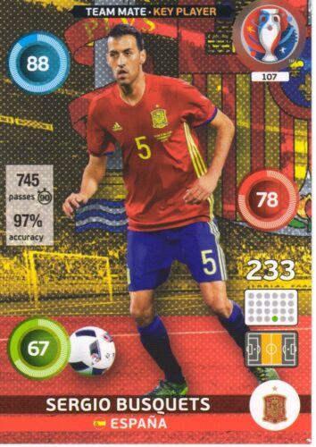 Panini Adrenalyn Xl Uefa Euro 2016-elija su equipo de España Tarjetas de 100 a 117