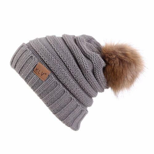 Hommes Femmes Unisexe Hiver Chaud Crochet Laine Tricot Ski Beanie Crâne Souple Chapeau