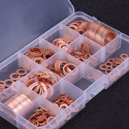 280 Copper Washers Solid Copper Sump Plug Assorted Garage Engine Washer W//Box