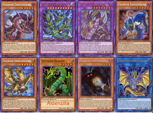 Yugioh-Thunder-Dragon-Deck-Colossus-Dragondark-Dragonhawk-Dragonroar