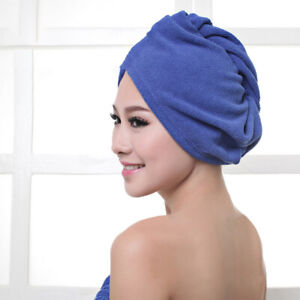 JN/_ Quick Drying Hair Absorbent Towel Wrap Cap Thick Hair Dryer Shower Hat Eff