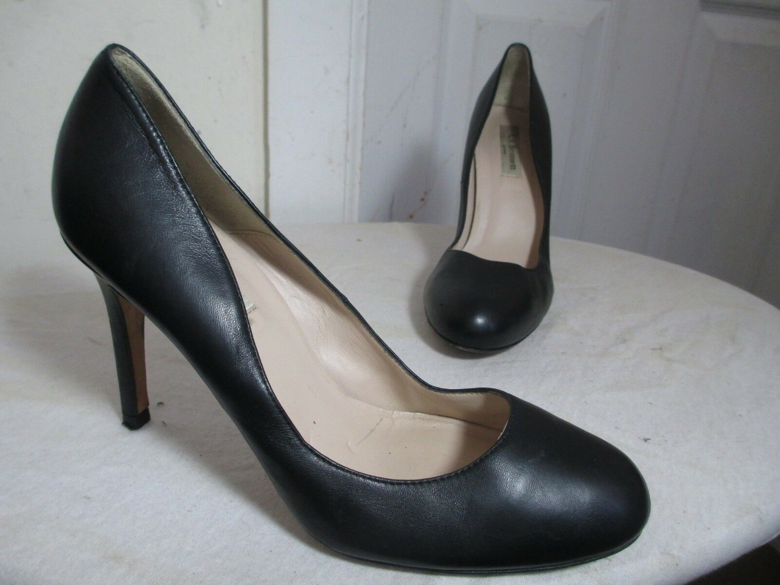 LK BENNETT donna'S nero LEATHER PUMPS HEELS MADE IN SPAIN Dimensione EU 39 US 8.5
