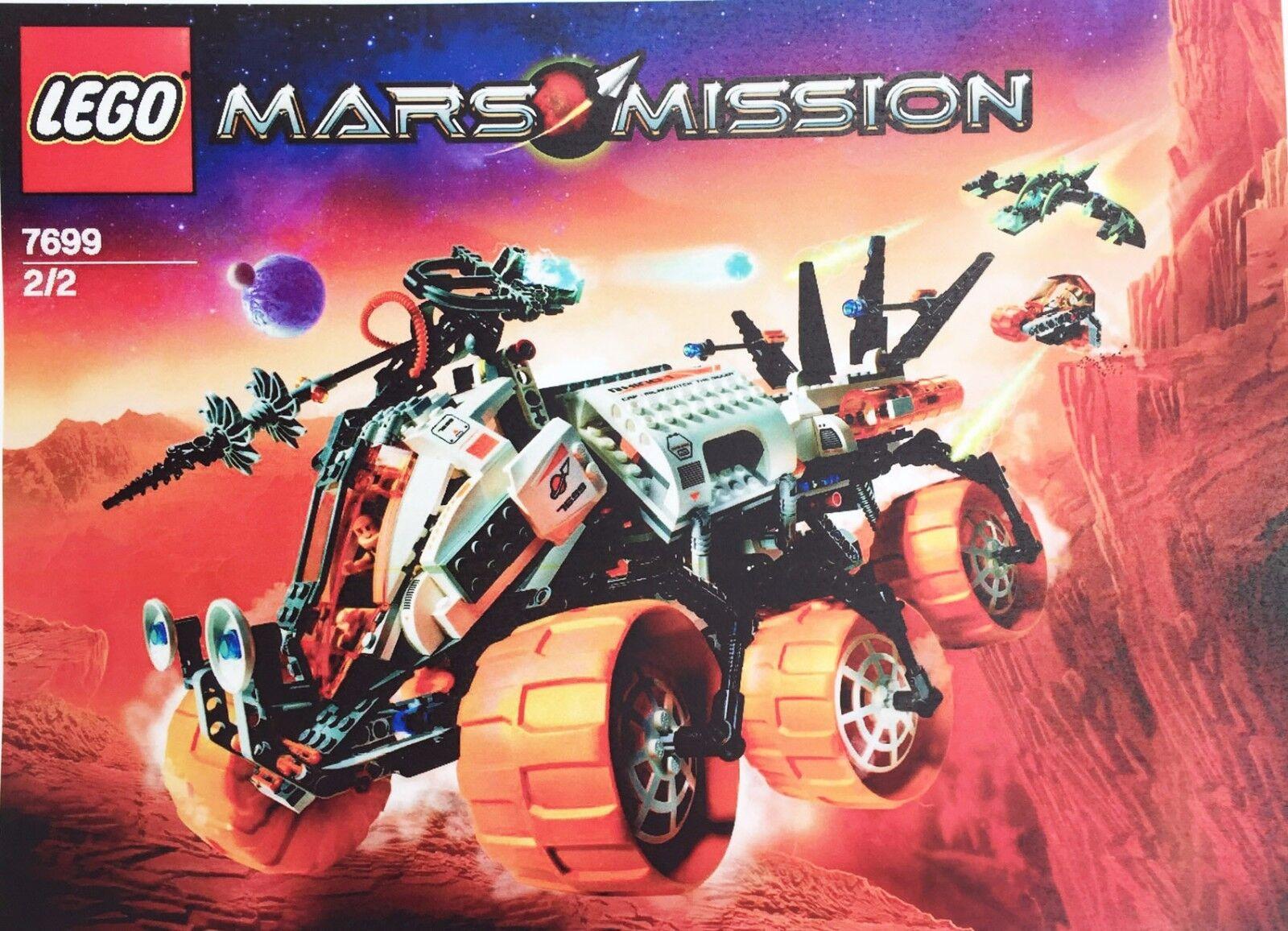 Lego Mars Misión blindado MT-101 unidad de perforación 'Set 7699. completo + Lista de piezas