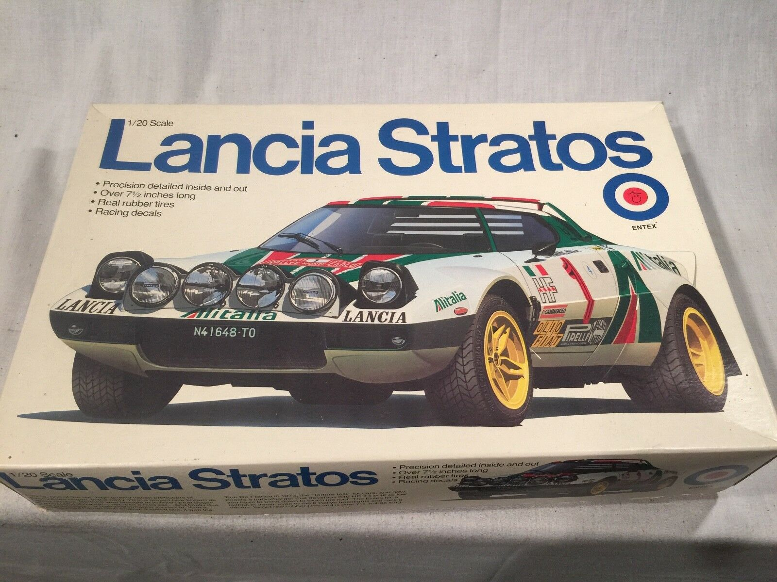 Lancia Stratos Monte Carlo Winner Entex Plastic Model Kit Sealed Bags 1 20 Scale
