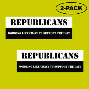 TRUMP-2020-Republicans-Political-Bumper-Sticker-Decal-Working-Like-Crazy-MAGA
