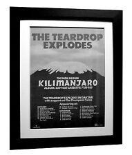 TEARDROP EXPLODES+Kilimanjaro+POSTER+AD+RARE+ORIG+1980+FRAMED+FAST GLOBAL SHIP
