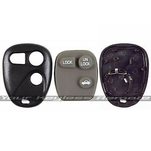 New-Remote-Keyless-Entry-Case-Shell-And-Rubber-Pad-For-GM-Chevy-Buick-Pontiac