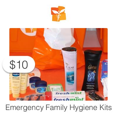 $10 Charitable Donation For: Emergency Family Hygiene Kits