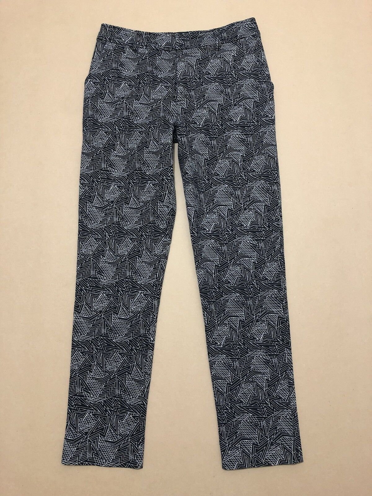 GORhomme PANTS femmes  Taille 8  GREAT COND W  GEOMETRIC PRINTED DESIGN TROUSERS