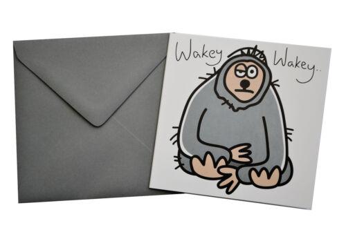 """homme /""""paresseux/"""" gris enveloppe! Nouvelle carte d/'anniversaire"""