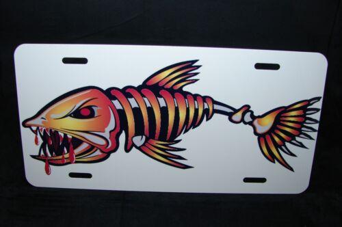 Bonefish Metal Neuheit Kennzeichen für Autos Angeln Salzwasser, Wassersport
