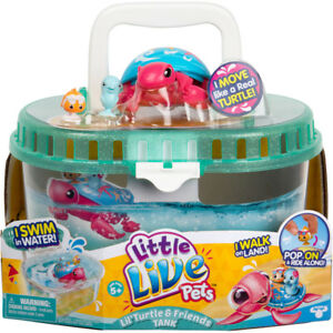 Electronic, Battery & Wind-up New Little Live Pets Lil' Little Turtle & Friends Tank Interactive Birthday Gift