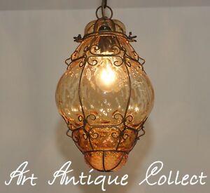 ancien plafonnier lustre murano verre lanterne light lampe. Black Bedroom Furniture Sets. Home Design Ideas