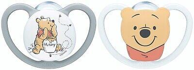 NUK Disney Winnie the Pooh Space Silikon Schnuller 2er Box verschiedene  Größen