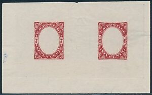 #186-E1b DIE ESSAY ON PROOF PAPER 1877 FRAME ESSAY BR9029
