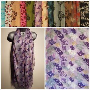 Ladies Scarf Shawl Wrap Pashmina SKULL Print BRAND NEW Large Pink White Tassel