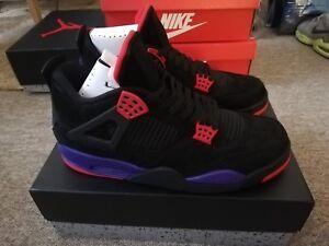 reputable site 8c4ba 884f1 Details about Nike Air Jordan 4 Retro Raptors Black Purple Red UK 11