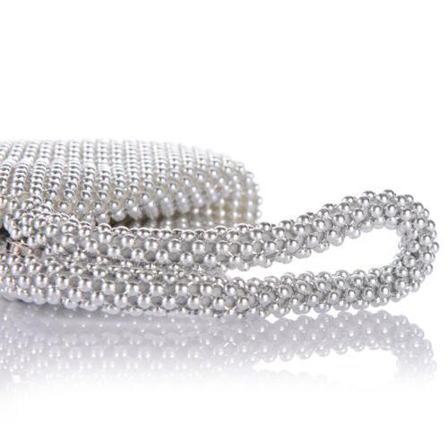 NEW Triangle Alumium sequins Women/'s Evening Clutch Bag Party Prom Wedding Purse