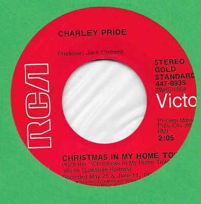 Christmas Charley Pride Christmas In My Home Town 45 rpm record   eBay