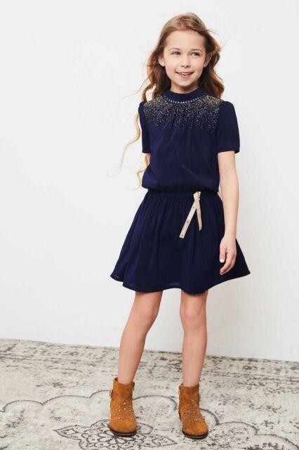 ✿ NONO ✿ Bambina Girl Vestito Minne Blu Marino Blazer Gr