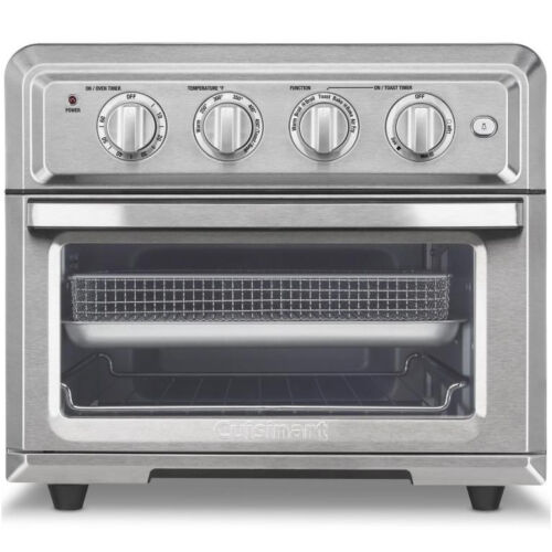 Silver Cuisinart TOA-60 Stainless Steel 1800W Air Fryer Toaster Oven