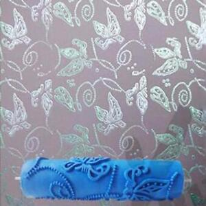 Details About Wall Paint Roller 3d Rubber Wall Decorative Without Handle Grip Butterfly Design