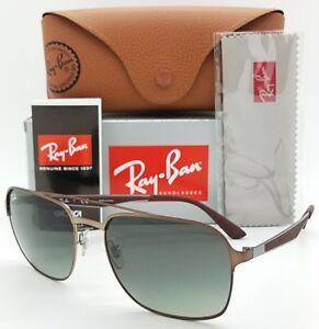 ba02961459fa NEW Rayban Sunglasses RB3570 121 11 Copper Brown Flat Metal 3570 ...