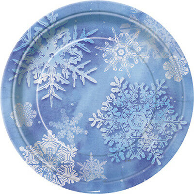 FROZEN SNOWFLAKE DESSERT PLATE Birthday Party Supplies FREE SHIPPING