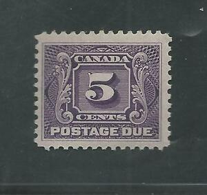 CANADA-J-4-Thin-Paper-Variety-MLH-POSTAGE-DUE-5404