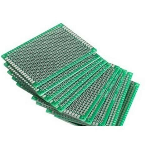 10PCS Double Side Prototype PCB Tinned Universal Breadboard 5x7 cm 50mmx70mm FR4