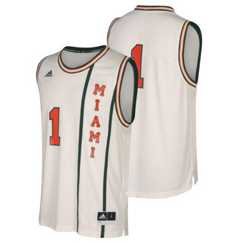 NCAA Miami Hurricanes Iced Basketball Jersey Hardwood Classic Jersey NEW