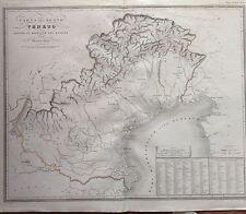 CARTA Geografica Regno VENETO sotto DOMINIO DEI ROMANI 1840 ZUCCAGNI ORLANDINI