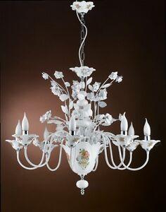 Beautiful Originale Lampadario In Ferro Battuto Lamps