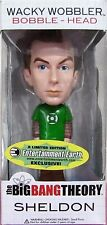 SHELDON Cooper Green Lantern Funko The Big Bang Theory Wacky Wackel Figure POP