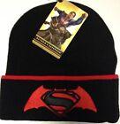 Official Batman V Superman Tipping Cuff Knitted Bronx Hat Junior Boys Kids Gift