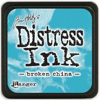 Tim Holtz Mini Distress Ink Pad Broken China Turquoise Blue Aqua Azure