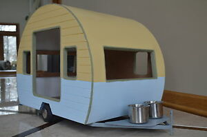 Trailer Dog House adorable small dog camper retro trailer pet house durable rv pooch