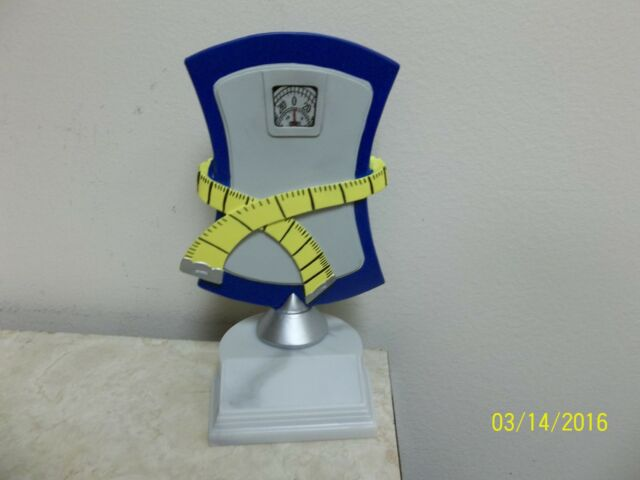 Fitness or Weight Loss award, trophy, NEW Design, Biggest