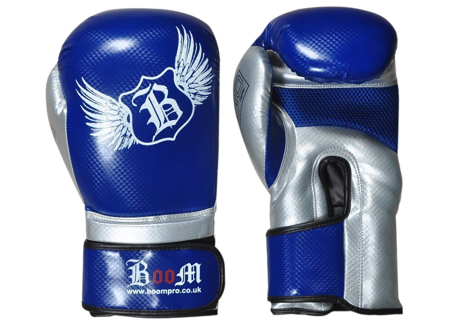 bluee  & silver Maya Leder Boxhandschuhe Sparring Mma Muay Thai Bbox Training  online discount