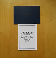 MOORCROFT ENAMELS CATALOGUE 2002 WITH PRICE LIST ~ Exc Condition