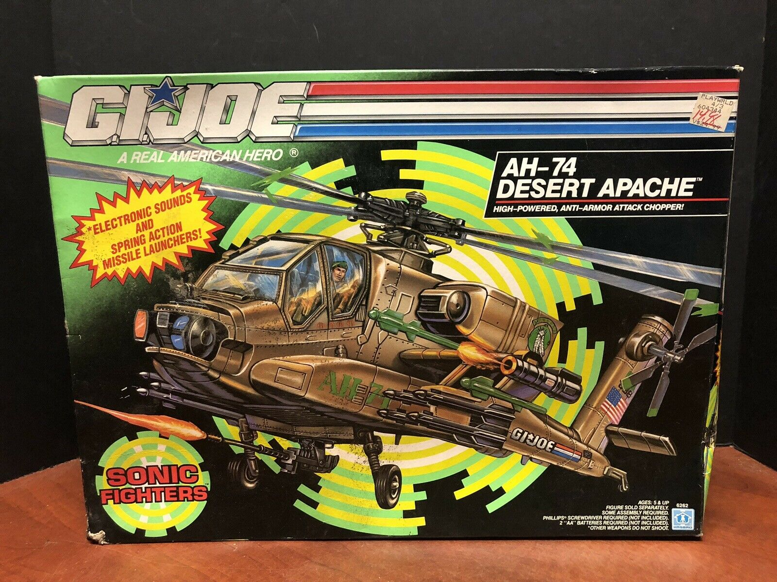 GI Joe 1992 AH-74 Desert Apache Sealed Dela0492