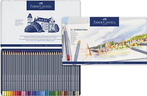114636-Faber-Castell-Goldfaber-Tin-of-36-Aqua-Water-Colour-Pencils