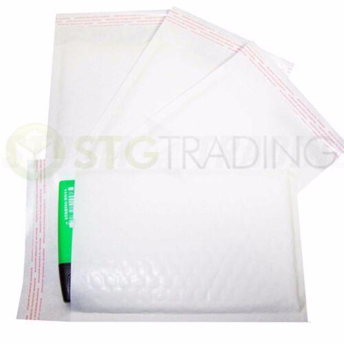 White Padded Bubble Envelopes A7 Jewellery 90x145mm STG 1-200 Envelopes