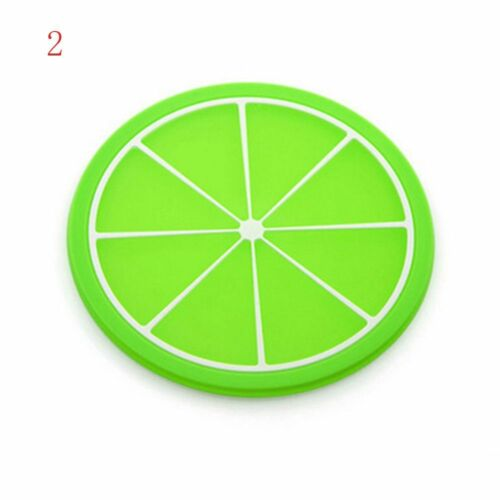 Round Tableware Coaster Coasters Placemat Non-slip Silicone Mat Cup Pad
