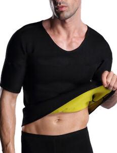 4d54a11406 Neoprene Body Shaper Men Slimming Vest Shirt Sauna Sweat Thermal ...